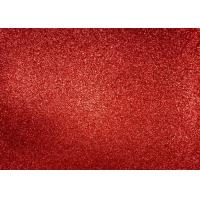 Cheap Magenta Red Glitter Fabric For Dresses , Cold Resistance Shiny Glitter Fabric for sale
