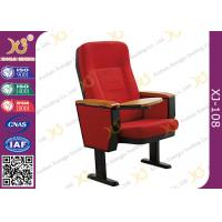 Solid Wood Armrest Steel Leg Church Auditorium Seating Chairs , ISO9001