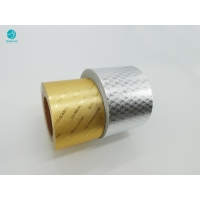 Cheap Embossed Pattern Gold Silver Aluminium Foil Paper For Cigarette Package for sale