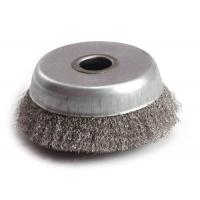 Weld Cleaning Steel Crimped Wire Cup Brush 304 SS Material And 16mm Inner Hole