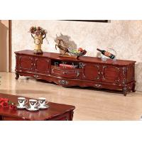 Cheap living room furniture TV cabinet antique wooden TV table for sale