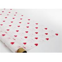 Cheap Heart Shapes Custom Printed Wax Paper , Greaseproof Decorative Wax Paper Sheets for sale