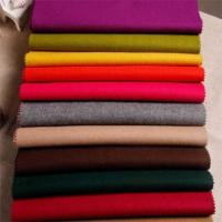 Cheap Polyester Melton Wool Fabric / Wool Dress Fabric For Jacket Coating Dress for sale
