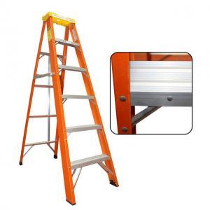 Cheap En131 Fiberglass A Frame Ladder , Aluminium Fiberglass Folding Ladder for sale