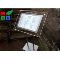 Cheap Portable LED Crystal Light Box Customized Design For Menu Display And Guide Sign for sale