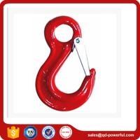 Cheap Drop Forged Eye Sling Hook with Safety Latch for Lifting Chain Slings for sale