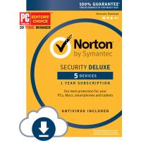 Cheap Norton Security Deluxe - 5 Device Computer Virus Protection Software Download Code for sale