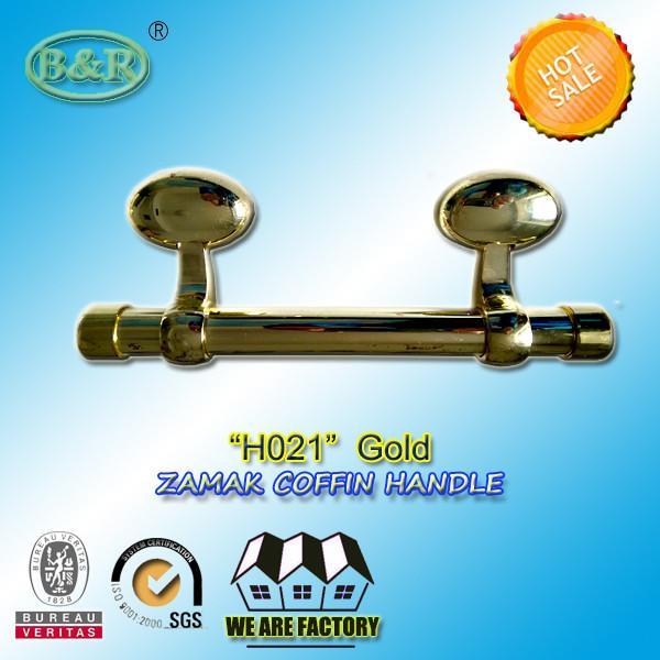 Italy Style Metal Casket Hardware H021 Zamak Coffin Bar