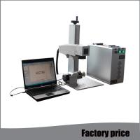 Cheap Raycus Small Laser Etching Machine , Air Cooling Mini Laser Engraving Machine for sale