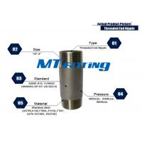 Buy cheap ASTM A106 F317L Forged High Pressure Stainless Steel Pipe Fittings / Threaded Pipe Nipple from wholesalers