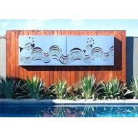 Cheap Decorative Outdoor Metal Wall Sculpture Stainless Steel Wall Mounted Screen Custom Size for sale