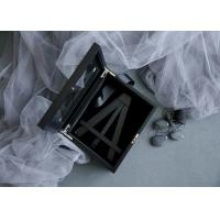 Cheap Customized Wood Gift Packaging Boxes Black Color With Lacquer For Bamboo Easel for sale