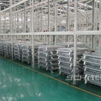 China Foldable Steel Wire Storage Container Bin Heavy Duty OEM Accept   800-1200mm  Width on sale