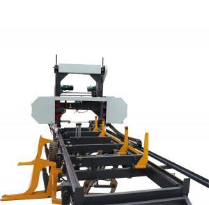 China Full Automatic Portable Sawmill Wood Lumber Cutting used Horizontal Band Saw Machine on sale