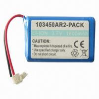 Cheap Lithium-ion Battery with 3.7V, 1,800mAh Capacity for sale