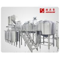 China Automatic / Semi Automatic Craft Beer Brewing Equipment 1000L 3 Vessels on sale