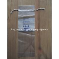 Cheap LDPE Clear Drawstring Plastic Bags With Perforation For Cotton Wool Pads for sale
