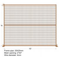 Cheap CA temporary construction fence panels 6ft x 10ft length with steel base for sale