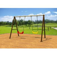 Cheap Standard Size Kindergartens Childrens Swing Set With Two Plastic Seats KP-G006 for sale