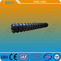 Cheap Strong Self Cleaning Force Rubber Steel Spiral Roller for sale