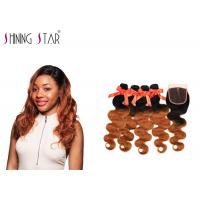 Cheap Nonremy Body Wave Hair Extensions Human / No Tangle Natural Body Wave Weave for sale