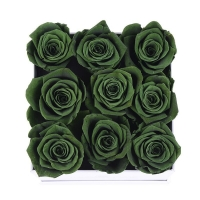Cheap Preserved Roses Gift Eternal Rose In Square Flower Box for wife or gilrfriend for sale