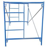 Cheap Removable Steel Ladder Scaffolding , Frame Type Scaffolding 42mm Diameter for sale