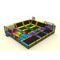 Cheap Commercial Soft Play Trampoline , Galvanized Steel Pipe Big Trampoline Park for sale