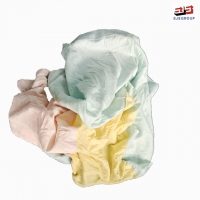 Buy cheap No Metal Light Color Mixed T-Shirt Lint Free Recycled Cotton Wiping Rags from wholesalers