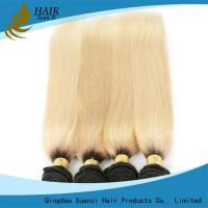 White 100% Human Hair Colored Virgin Hair ExtensionsYaki Straight  No Damage 7A Grade