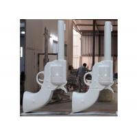 Cheap Painted White Large Contemporary Public Metal Gun Sculpture for Outdoor for sale