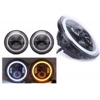 "Cheap 70W 7"" Angel Eye Jeep LED Headlights High / Low H4 Or H13 Jeep Jk Halo Headlights for sale"