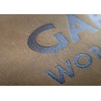 Cheap Custom Embossed Leather Patches Brand Name Tan Color Genuines For Jeans for sale