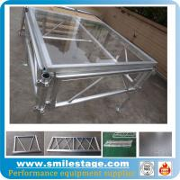Cheap Aluminum Height Adjustable Glass Stage for Outdoor Events for sale
