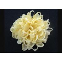 Bright Yellow  Up To 70% Discount Chrysanthemum Pattern Fabric Flower Brooch Pin