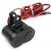 Cheap 12V Waterproof Motorcycle Usb Charger Power Adapter with Cigarette Lighter Socket and Switch for sale