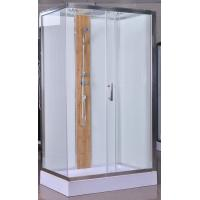 Cheap 1200x800x2150mm Luxury Corner Shower Stalls , Rectangular  Shower Cabin with bamboo for sale