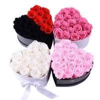 Cheap Wholesale Price preserved roses Classic Heartshape Box Flower for sale