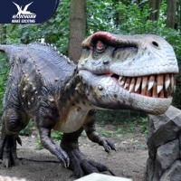 Zoo Equipement Realistic Dinosaur Models Handmade Customizable Size for sale