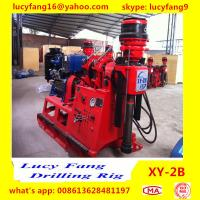 Cheap China Deutz Engine Thailand Popular XY-2B  Skid Mounted Geotechnical Core Drilling Rig With SPT Equipment for sale