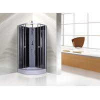 Cheap Circle Grey Quadrant Shower Cubicles 900 X 900 X 2250 MM ABS Tray Chrome Profiles for sale