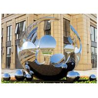 Quality Unique Design Large Mirror Stainless Steel Sculpture Artists Sphere For Outdoor wholesale