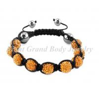 Cheap Female CZ Stone Charm Bangles Crystal Shamballa Bracelet For Party for sale