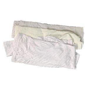 Cheap 25Cm 95% Cotton 10kg/Bale Reclaimed Cotton T Shirt Rags for sale