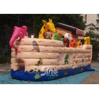 Cheap Safety Noah's Ark Paradise Inflatable Combo Bounce House For Kids for sale
