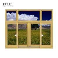Cheap Champagne Aluminium Section Sliding Window / Office Aluminium Sash Windows for sale