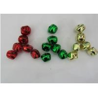 Cheap green, Red, golden color cross jingle bells christmas jingle bell ornament for sale