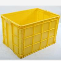 Cheap Offer HDPE Stackable Solid Plastic Crate, Crate with Bottom Drainage Holes for sale