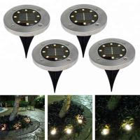 Cheap Yellow Solar Powered LED Ground Lights / Solar Powered Walkway Lights for sale