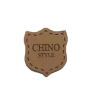 Cheap Cowboy Clothing Logo Badges Heat Press Emboss Genuine Leather Patches For Jeans for sale